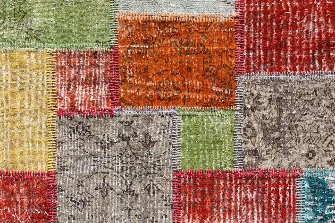 tapis patchwork asiatique istanbul turquie fermer banque dimages 44689122 - Tapis Patchwork