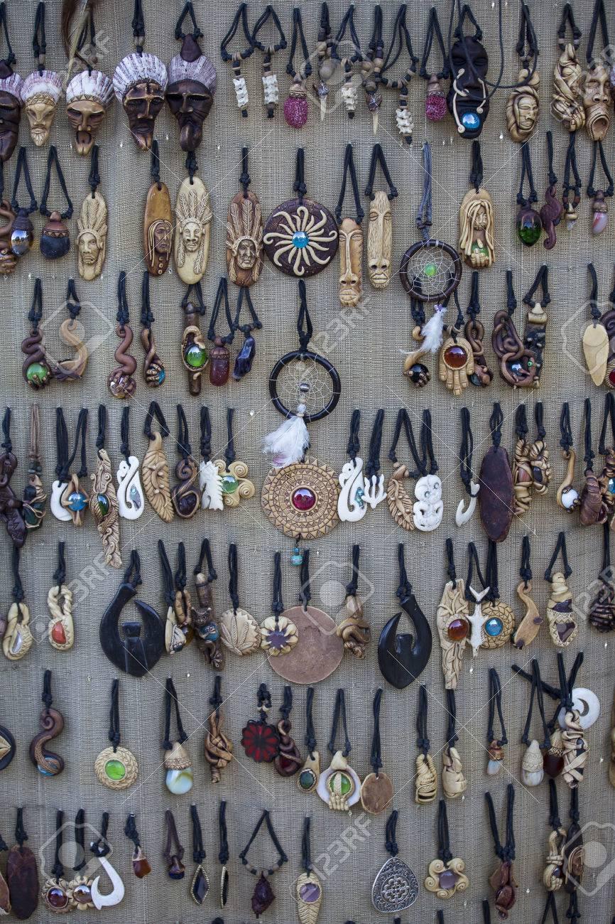 Philippine Souvenirs Handicrafts Market In Cebu Philippines Stock