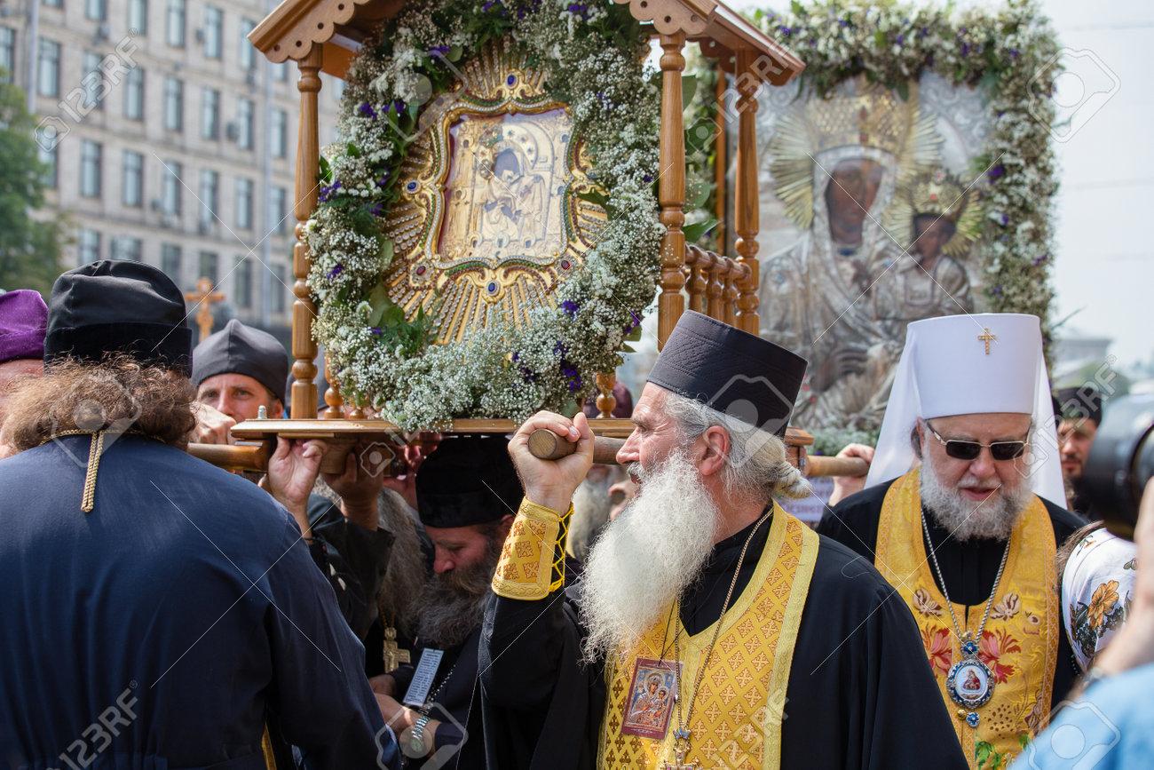 キエフ, ウクライナ - 2016 年 7 月 27 日: 氏子ウクライナ正教会 ...