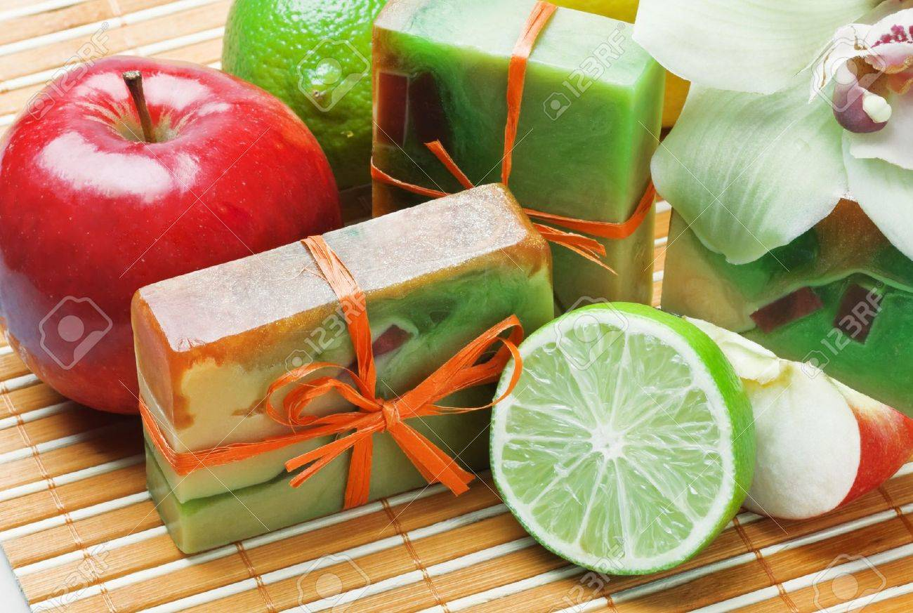 handmade soap with the scent of orchid Stock Photo - 10962696