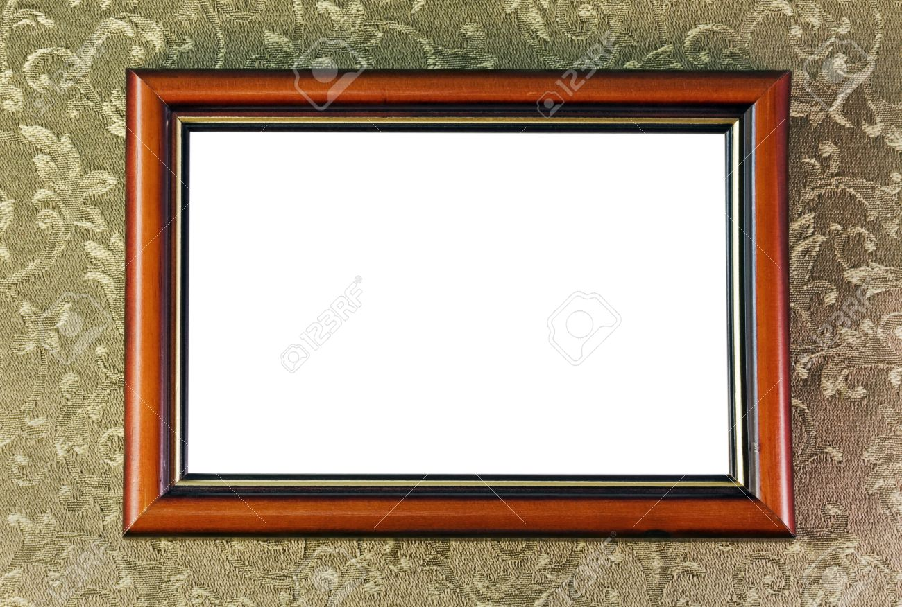 empty frame of the picture hanging on the wall stock photo 12027831 - Empty Picture Frame
