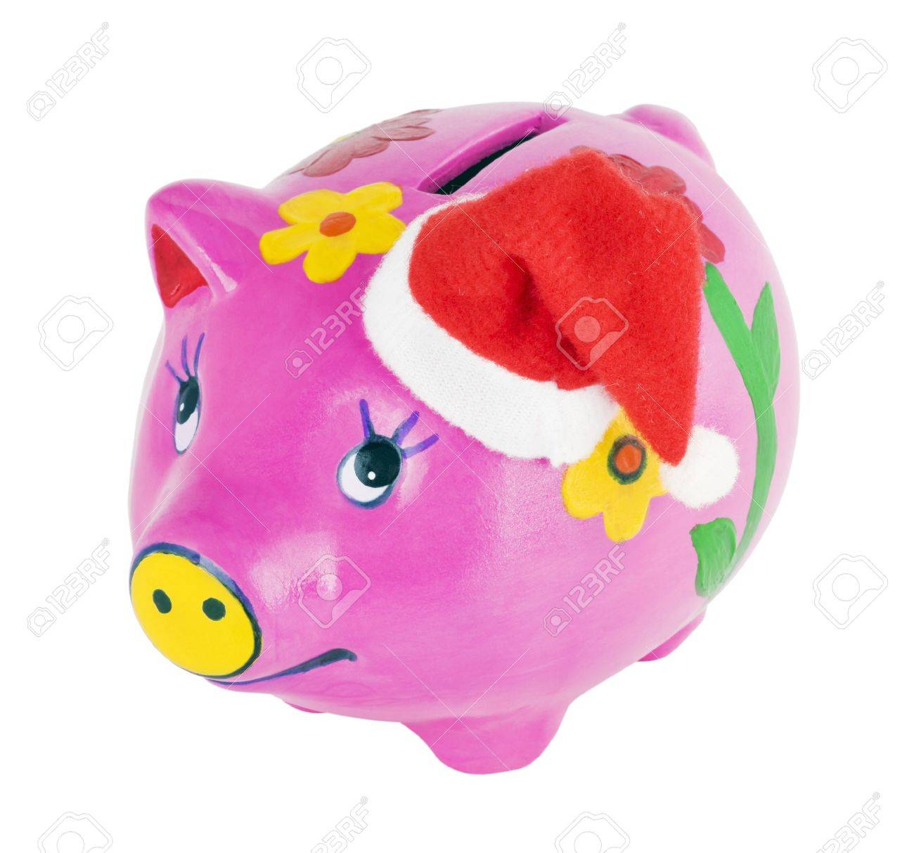 pig piggy bank isolated on white background Stock Photo - 12831983