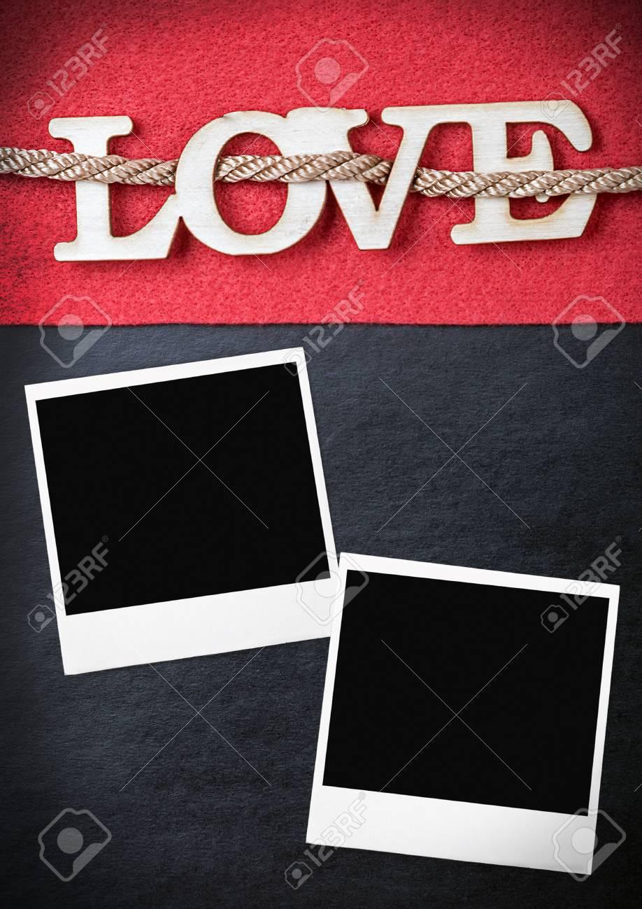 Liebesbriefe Ausgeschnitten Aus Sperrholz Und Bilderrahmen. Kann Für ...
