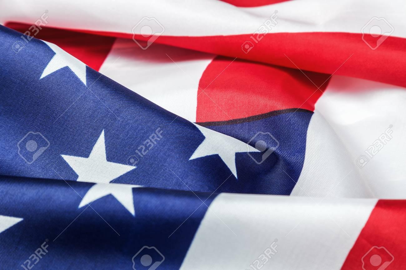 e9f55f8083e American flag made of silk Close-up background Stock Photo - 66658654