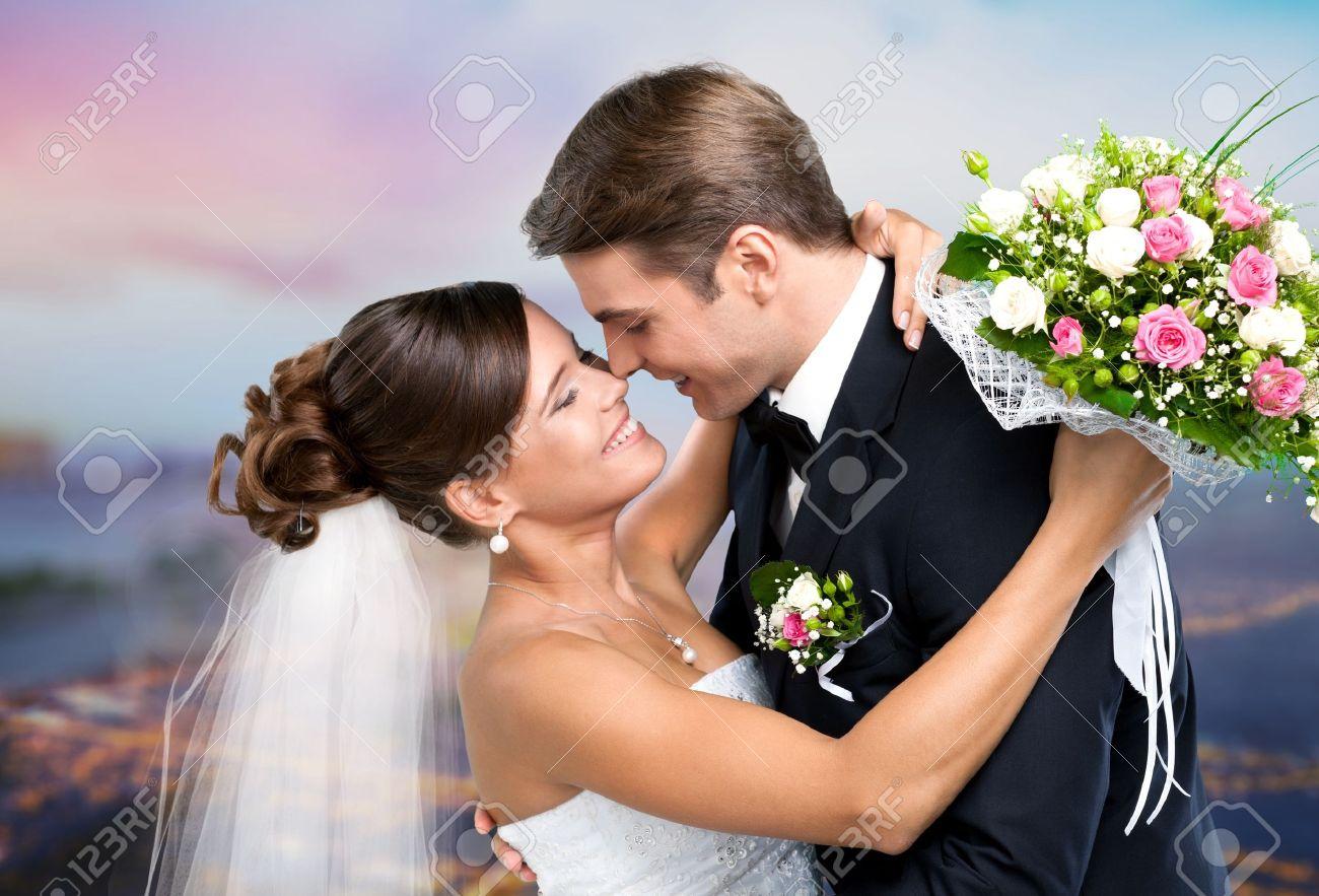 Wedding, Couple, Heterosexual Couple. Stock Photo - 42484890