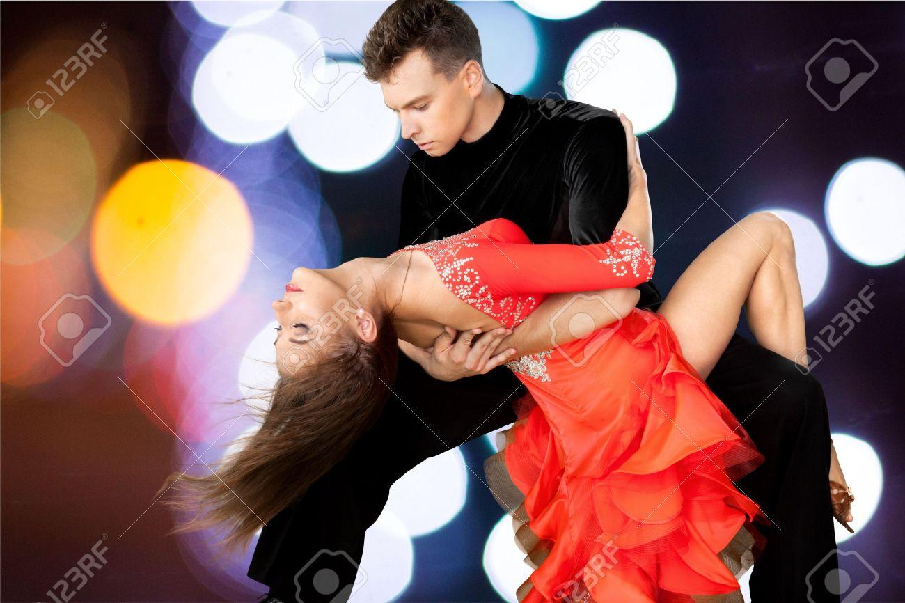 Salsa Dancing, Dancing, Couple. Stock Photo - 42647613
