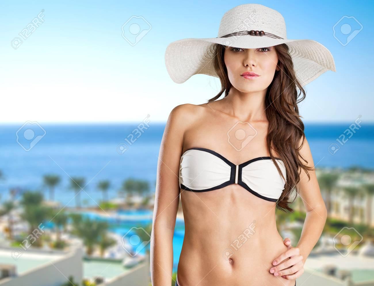 Beach, woman, breast.