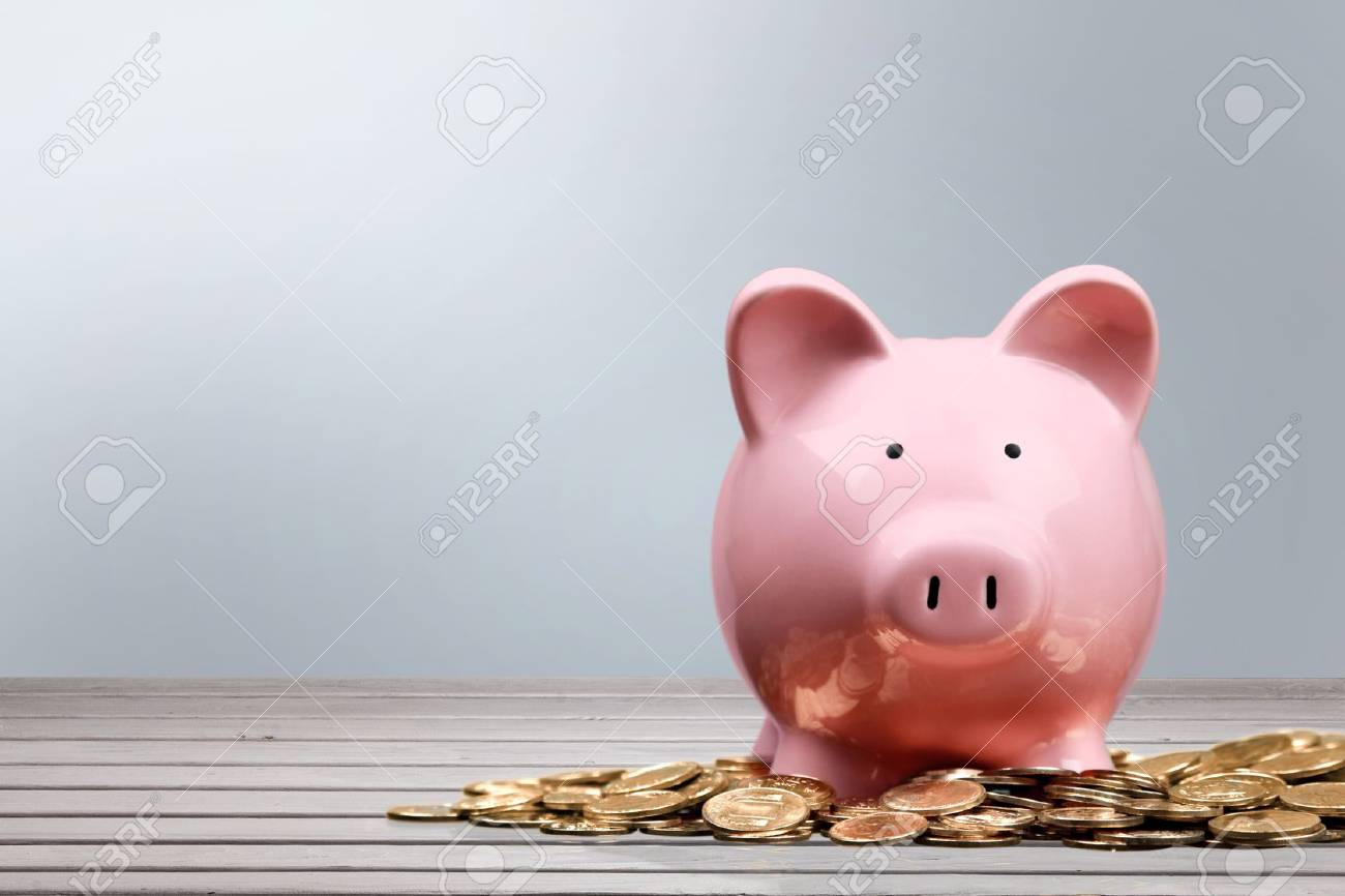 Piggy Bank, Currency, Savings. - 43207740