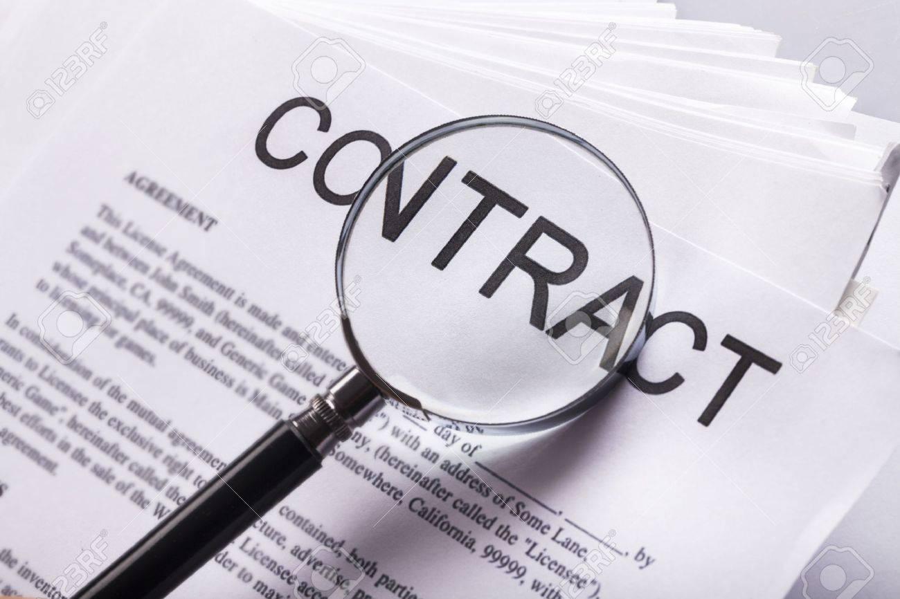 Contract. Stock Photo - 48478533