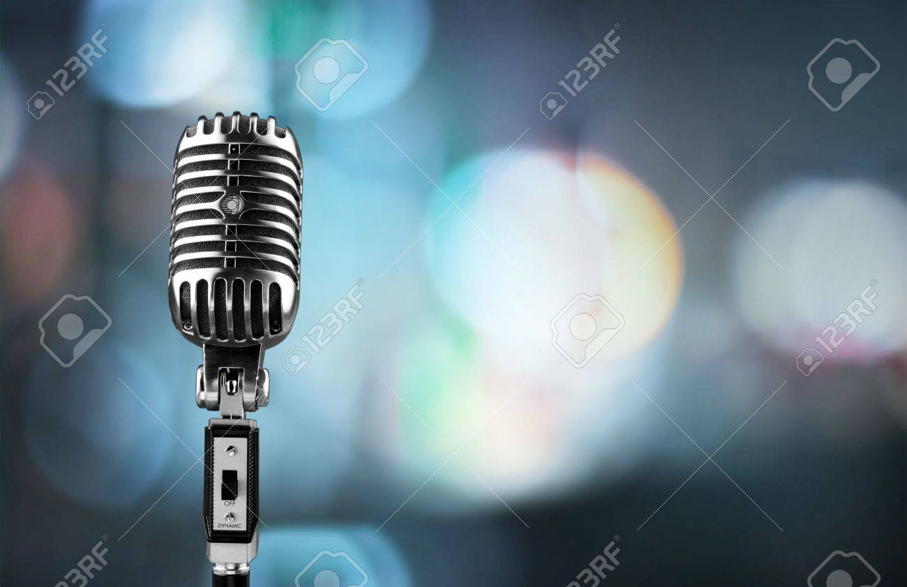 Microphone. Banque d'images - 50305487