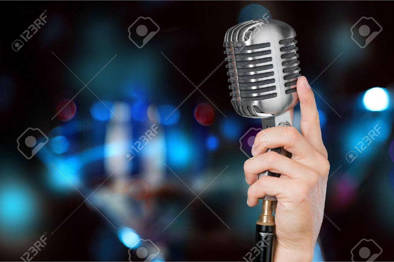 Microphone. Banque d'images - 52616335