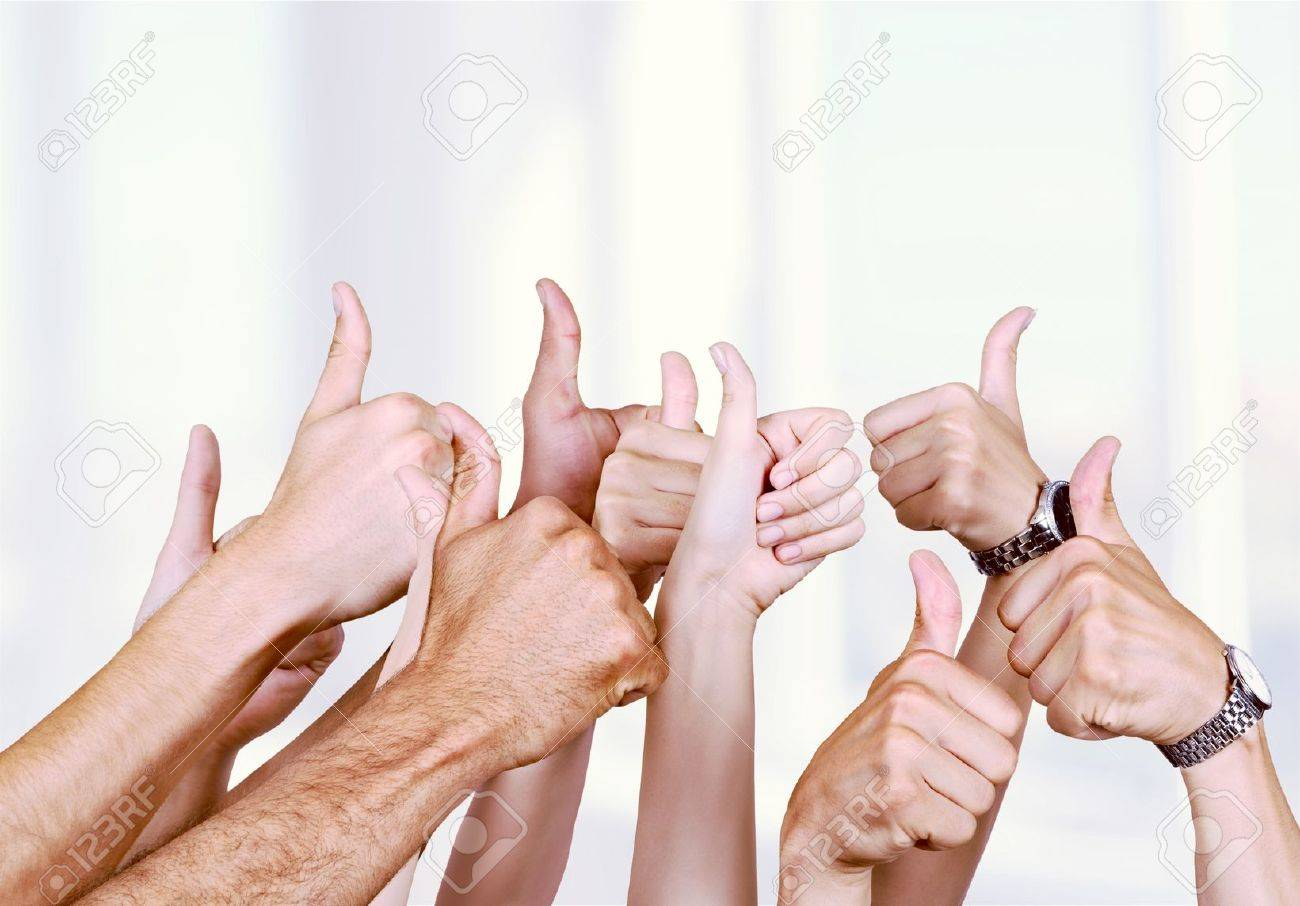 Thumbs Up. Banque d'images - 55044445