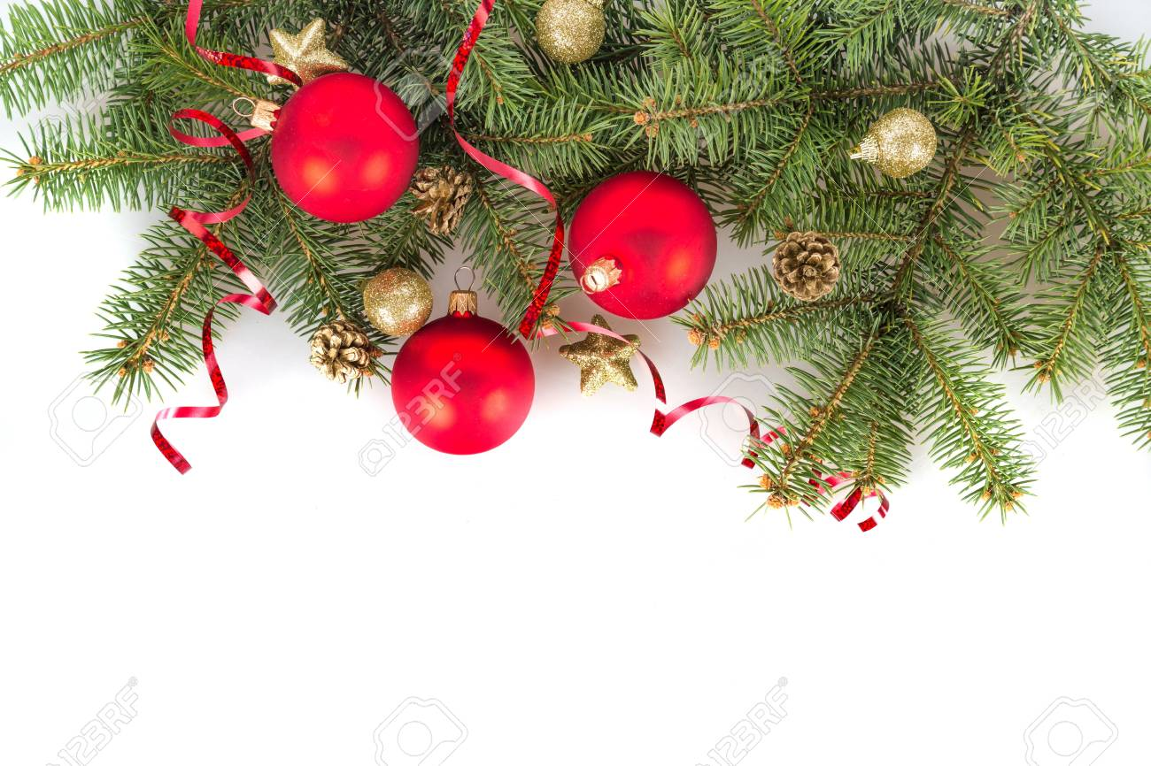 Christmas Greenery.Christmas Greenery And Ornaments