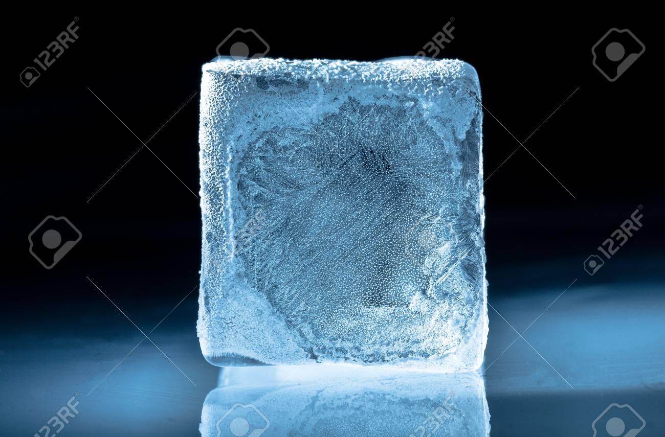 Frozen Ice Cube Stock Photo