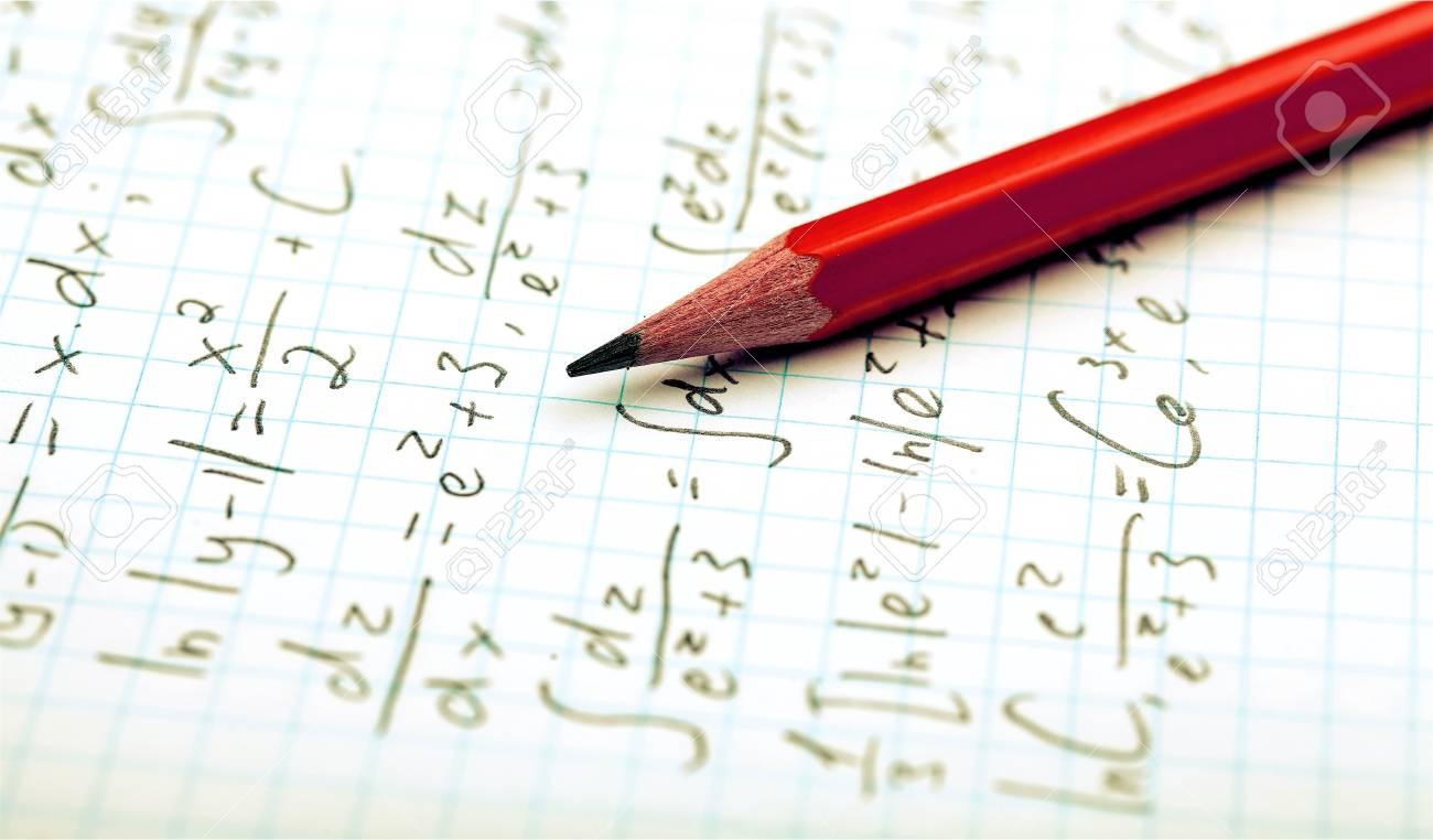 Pencil and maths formulas