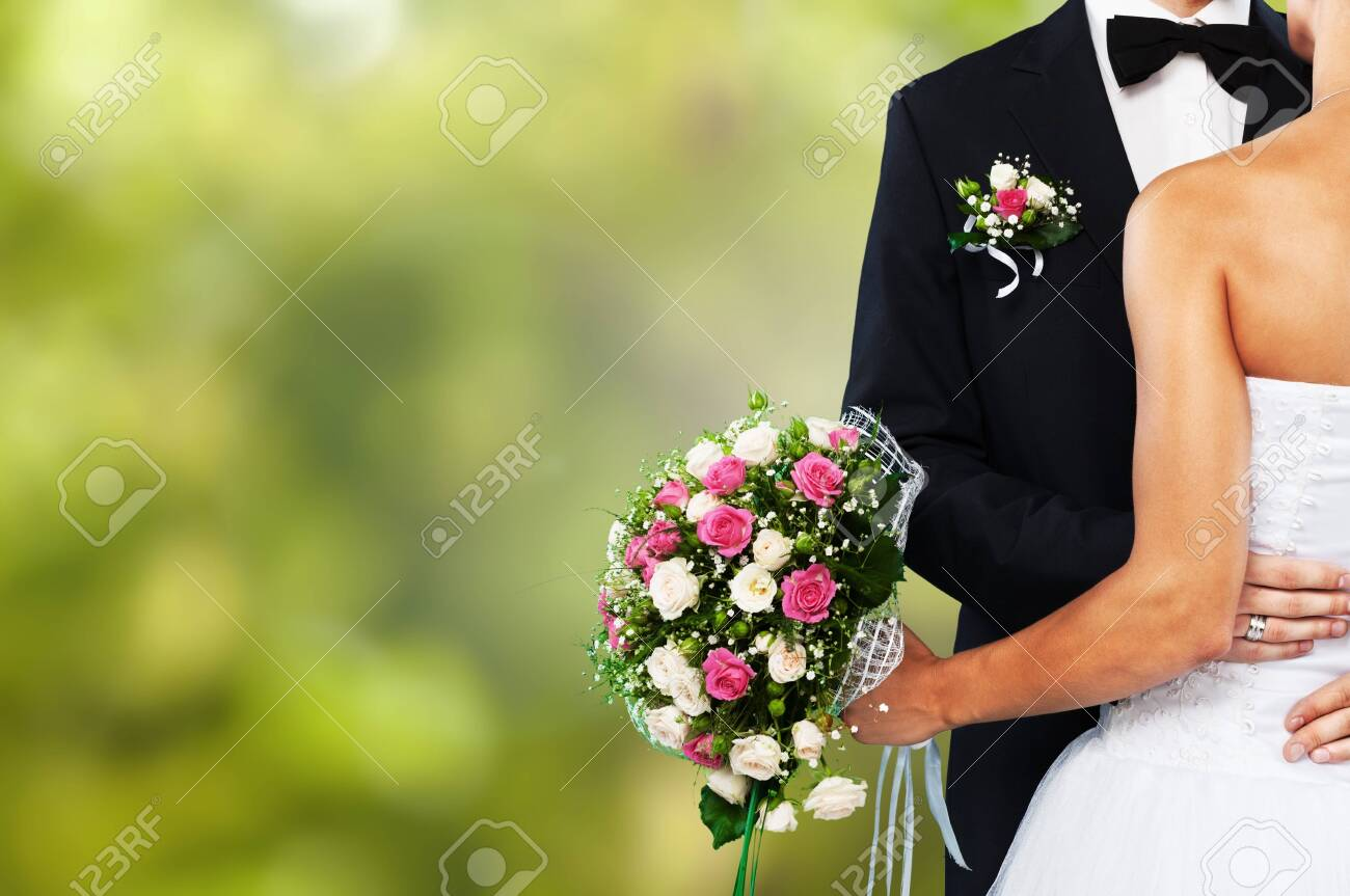 Happy just married young couple - 124300607