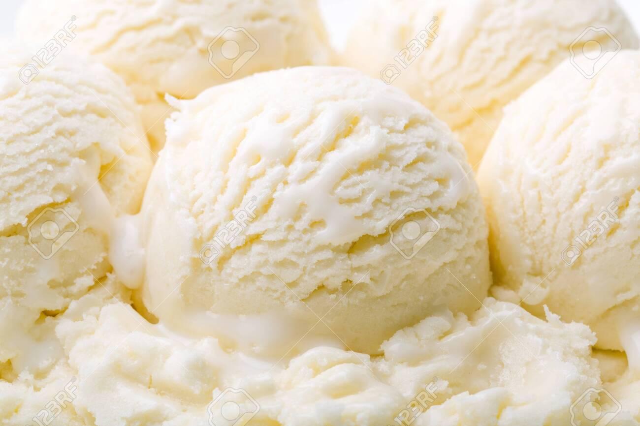Vanilla Ice Cream Scoops - 124314666