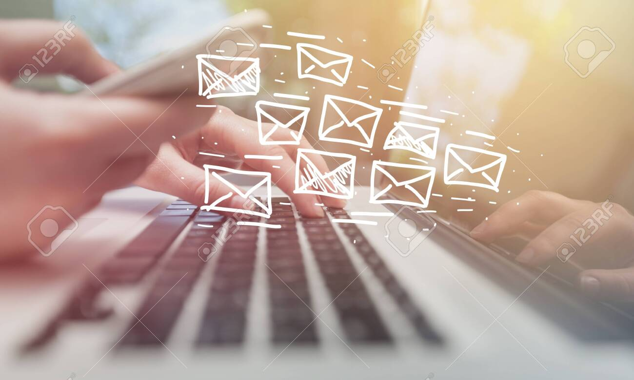 Email marketing and newsletter concept - 126976161