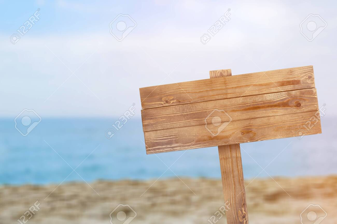Wooden sign isolated on white background with clipping path - Image - 128655988