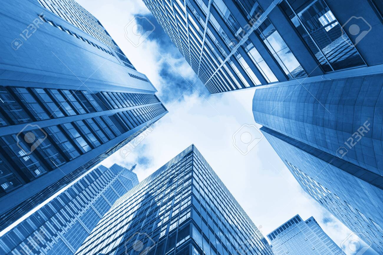 low angle view of skyscrapers in Shanghai,China - Image - 128768138