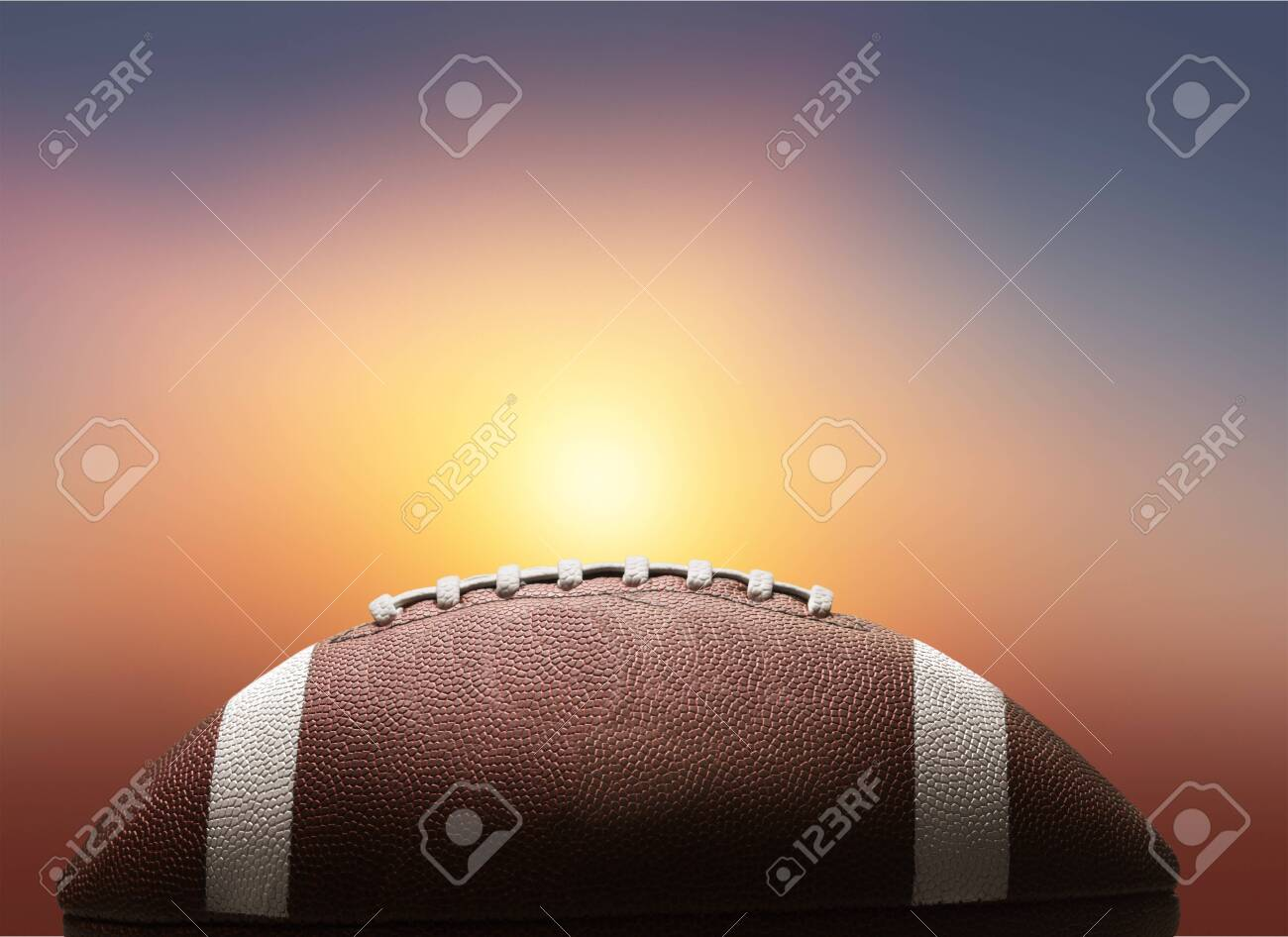 American football ball on background - 134254581