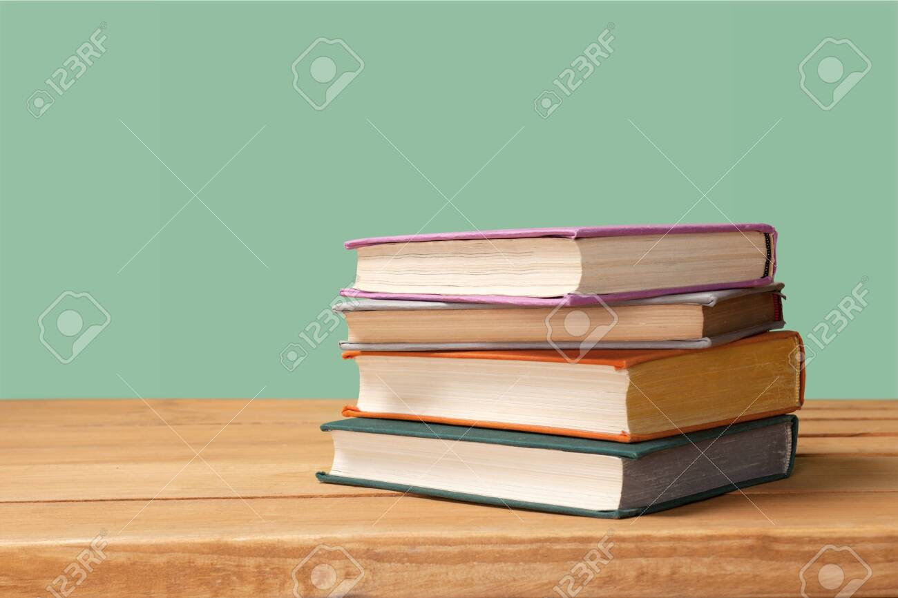 Books collection isolated on background. - 131986654