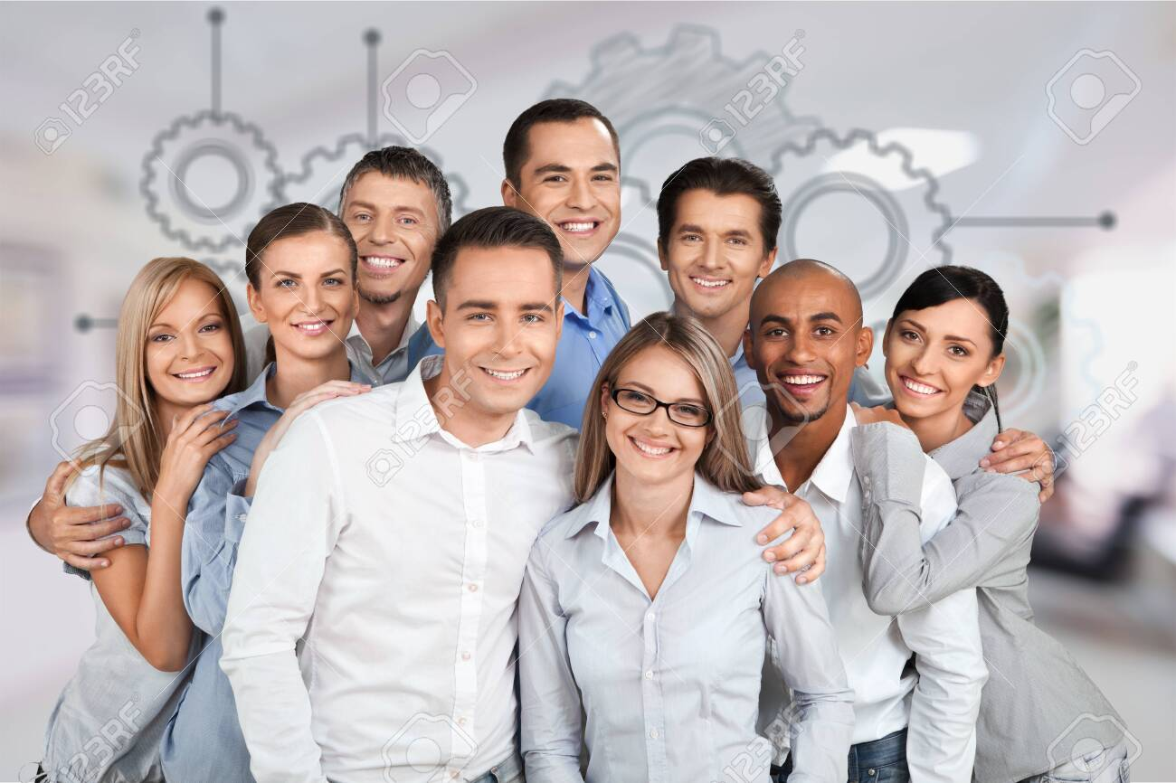 Portrait of Smiling Business People - 130159571