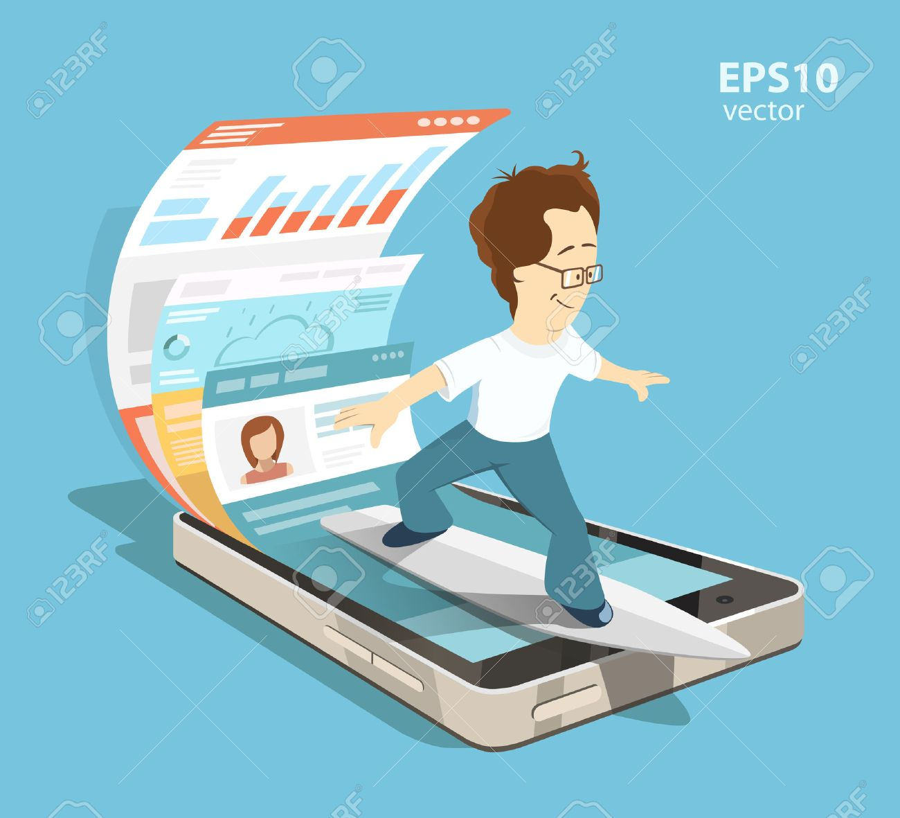 Young programmer software engineer. Mobile app application with ui and ux design development concept. Creative color illustration. - 50570052