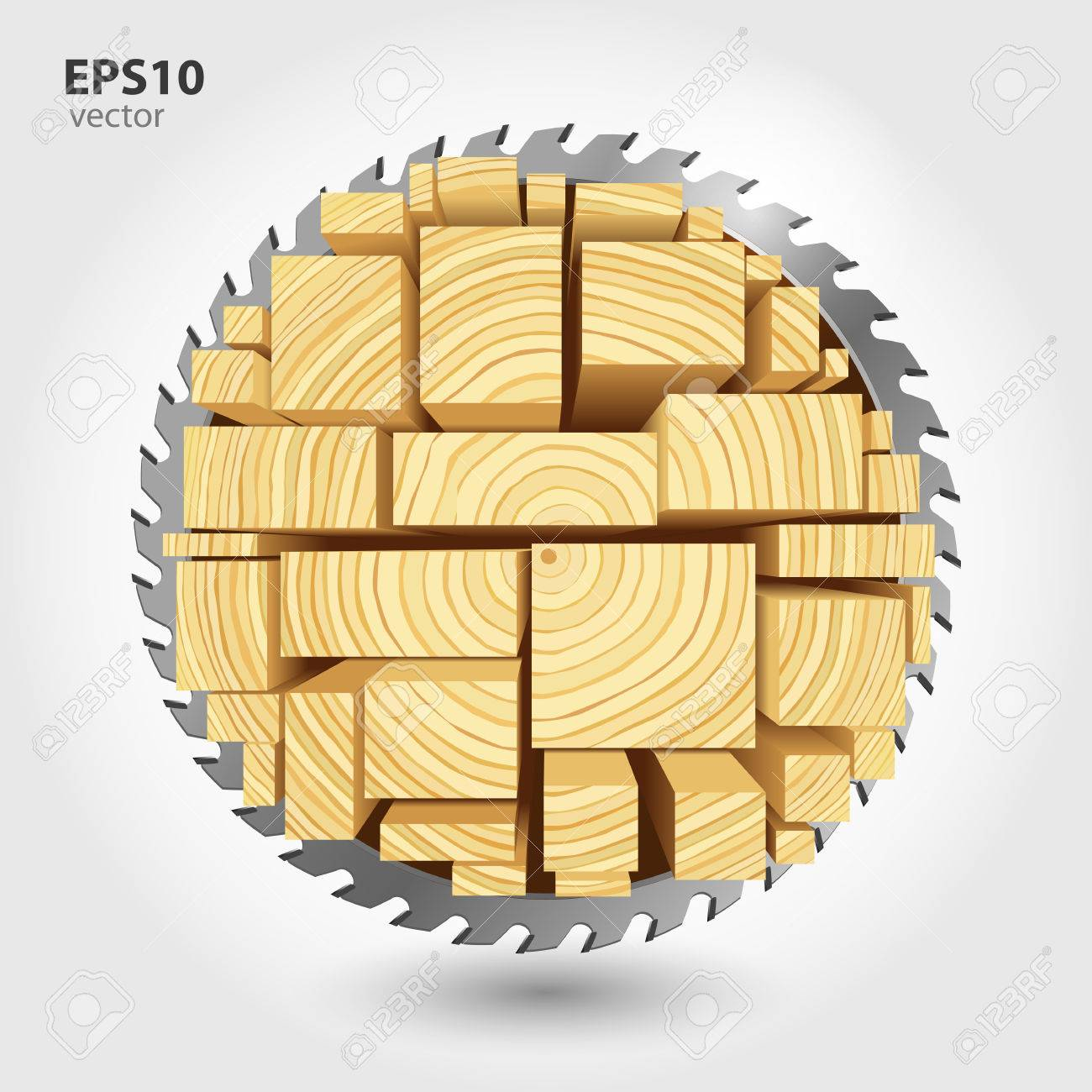 Lumber and wood slice illustration concept. Abstract creative saw. Sawmill color hd 3d web icon. Woodworking - 50570468