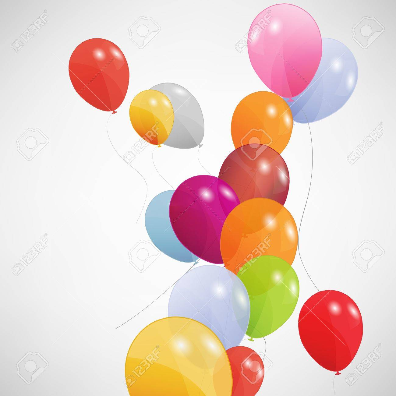 set of colored balloons Stock Vector - 16188472