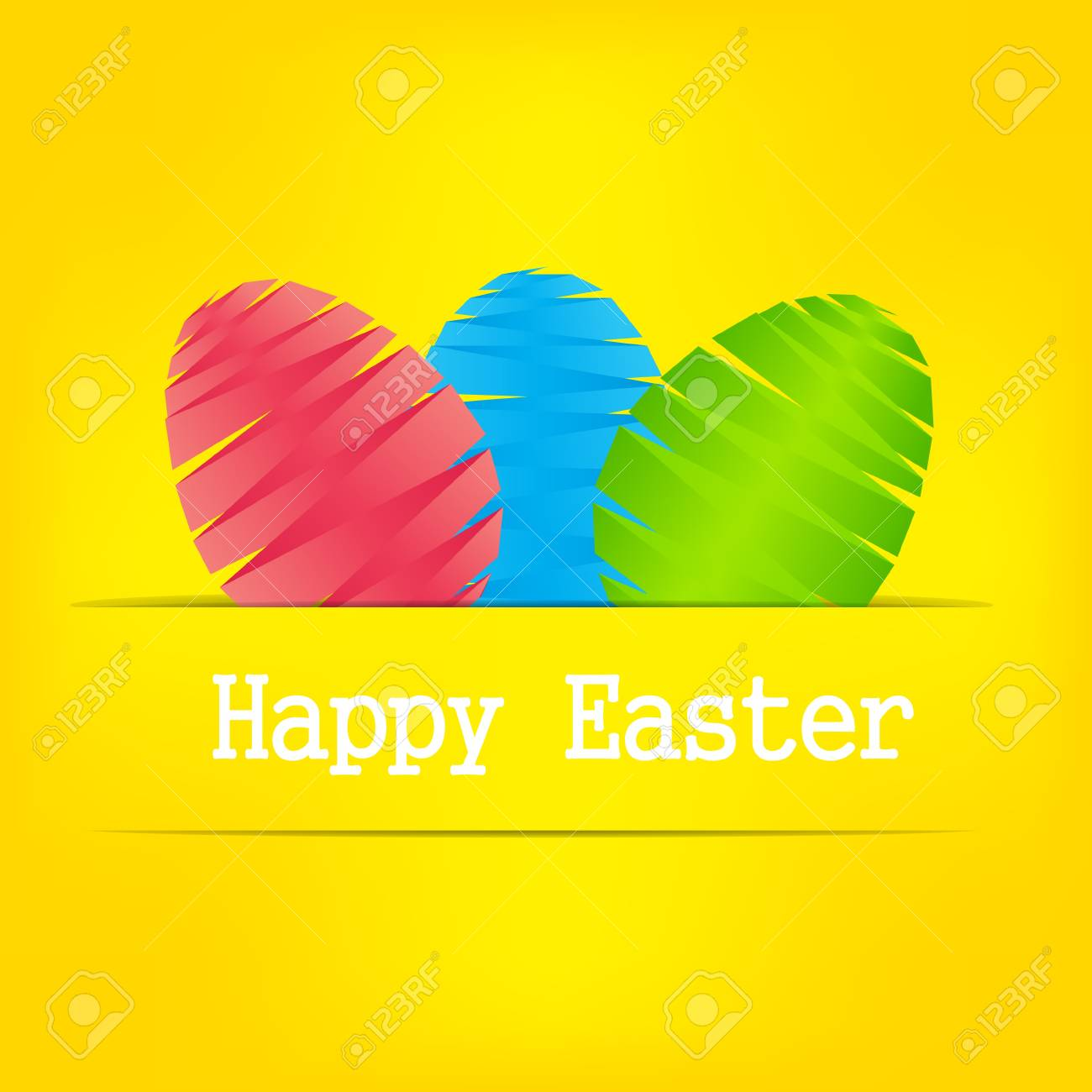Vector  Paper card with  easter eggs Stock Vector - 16984956