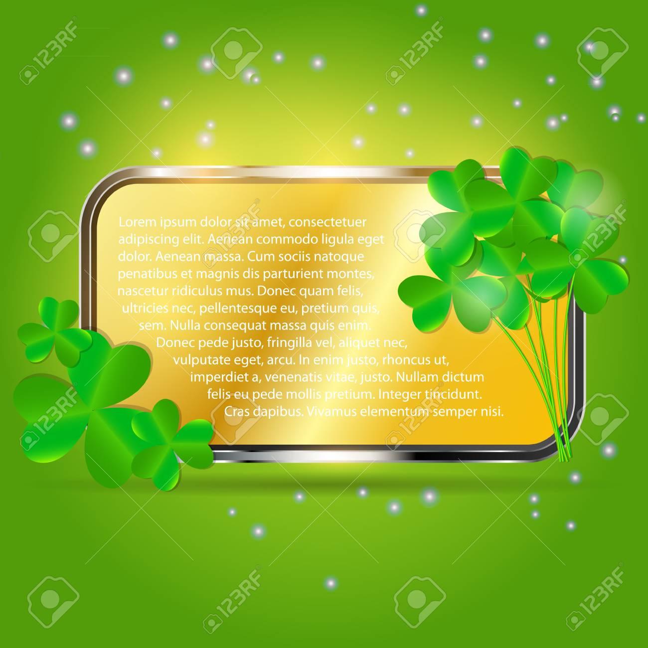 Saint Patrick s day background vector illustration Stock Illustration - 17248792