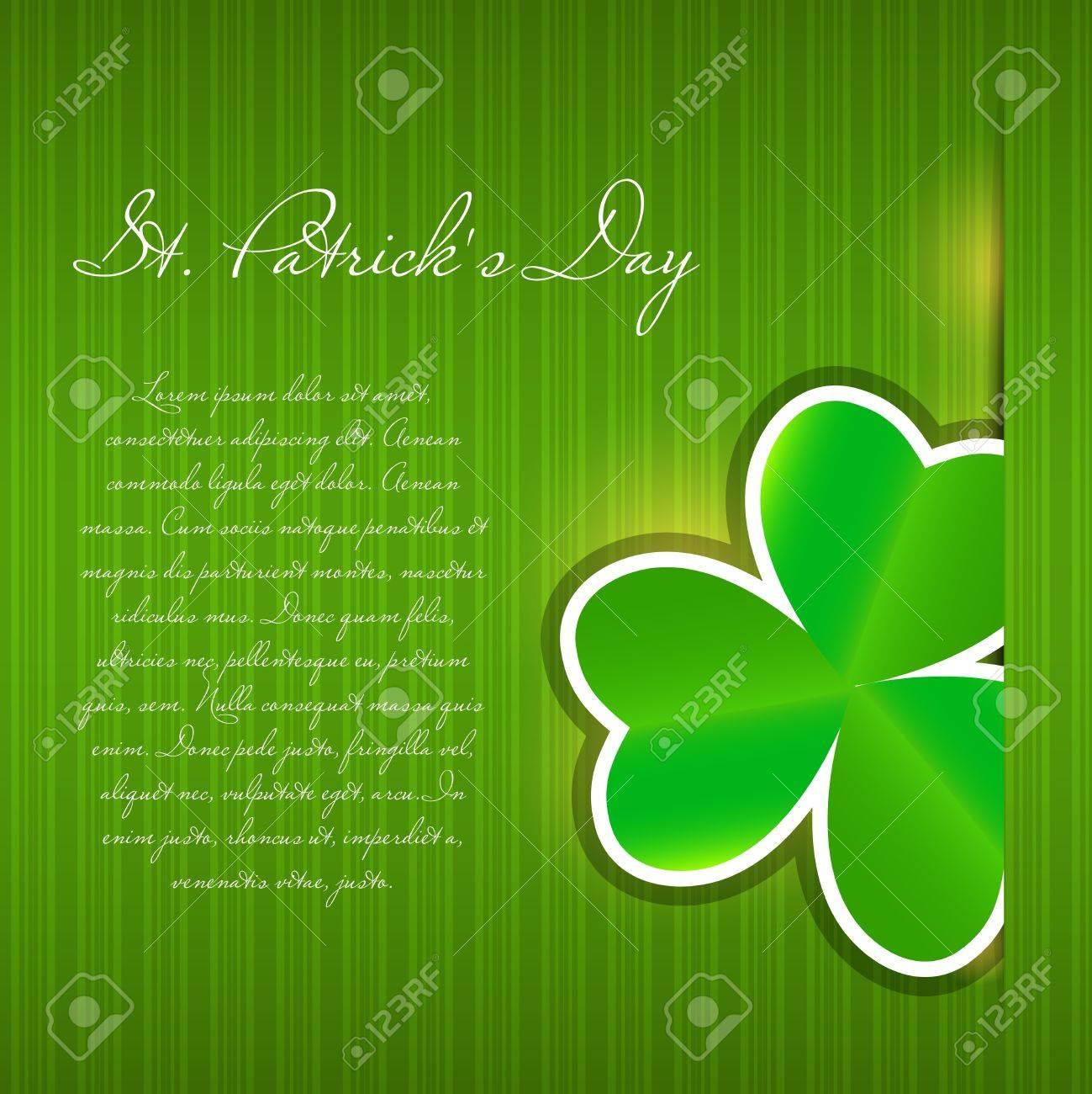 Saint Patrick s day background vector illustration Stock Illustration - 17285754