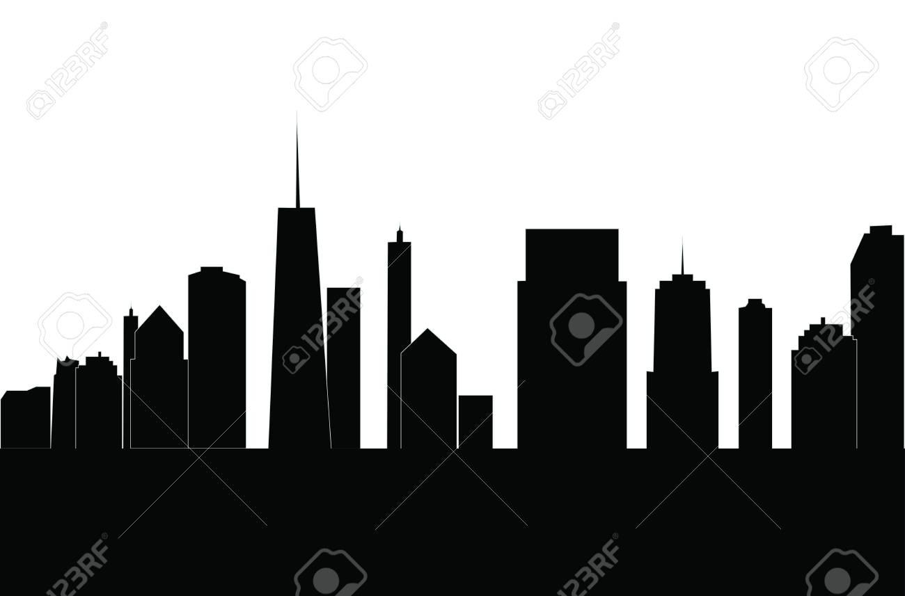 illustration of cities silhouette rh 123rf com city silhouette vector free city silhouette vector png