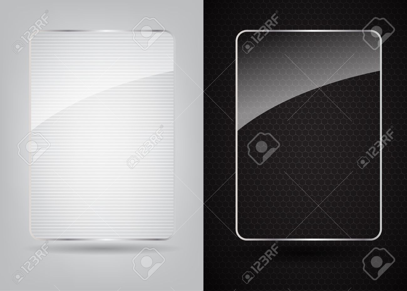 glass frame on abstract metal background vector illustration stock vector 17472300