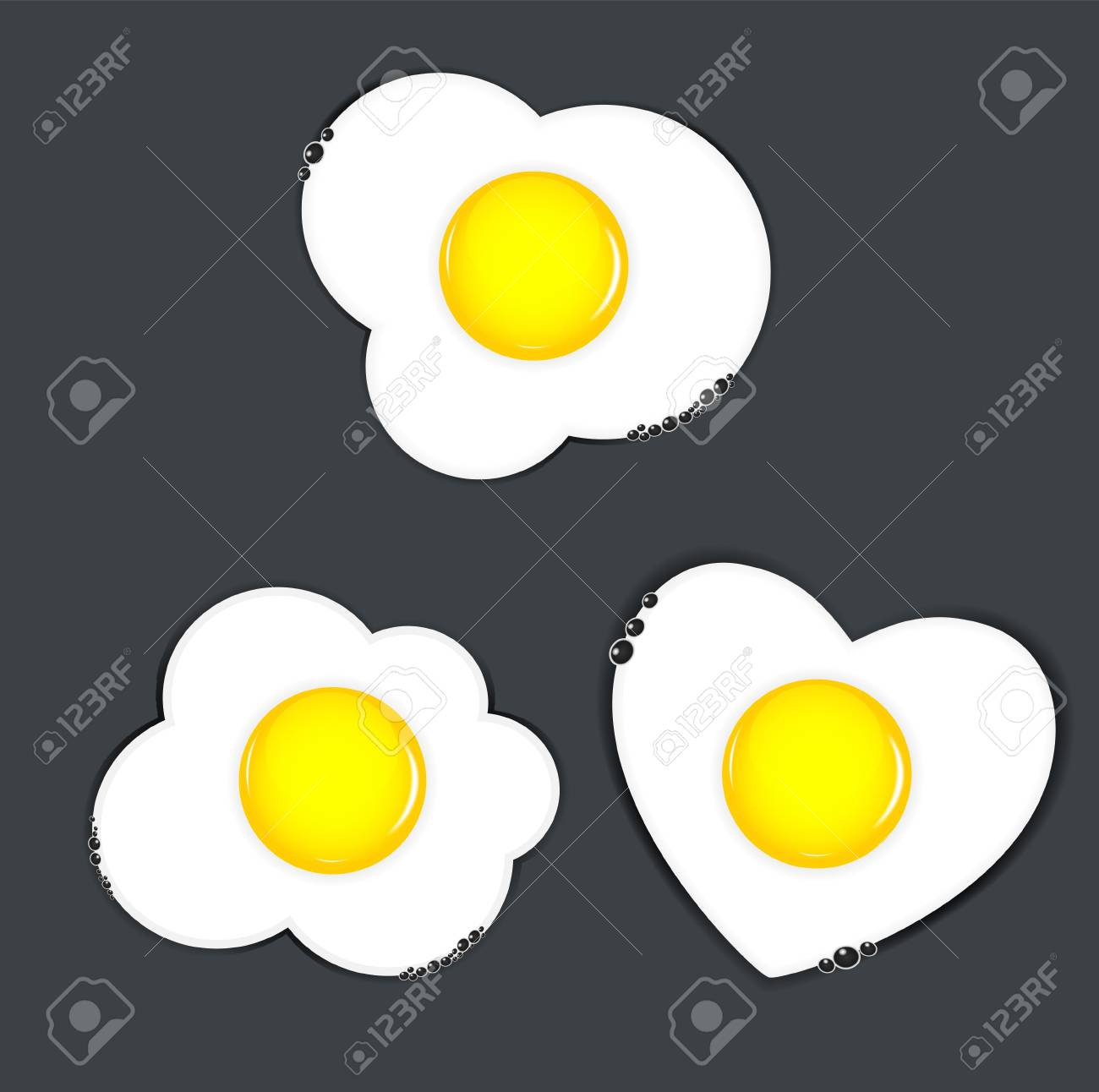 Fried eggs vector illustration Stock Vector - 17707646