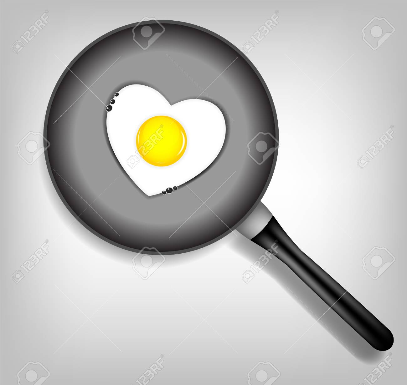 Fried eggs vector illustration Stock Vector - 17707644