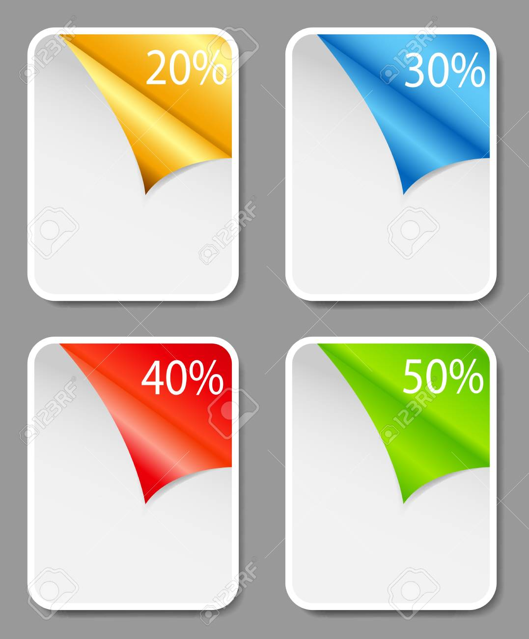 Set of Sale Tags  Vector illustration Stock Vector - 17707684