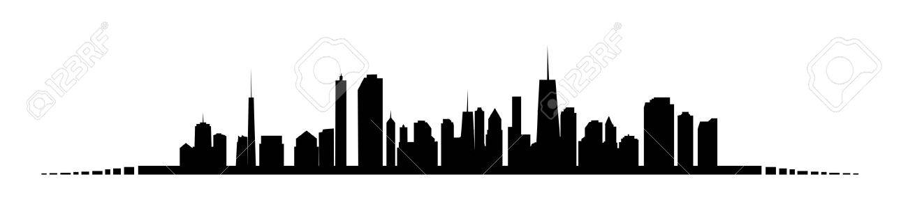 illustration of cities silhouette Stock Vector - 18228127