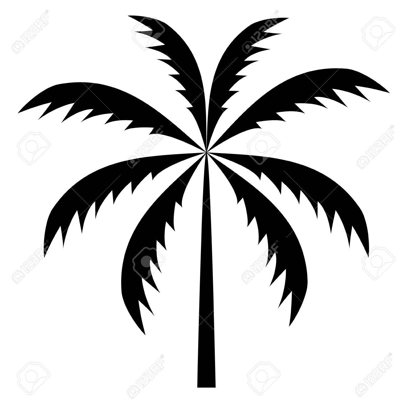 silhouette of palm trees vector illustration royalty free cliparts rh 123rf com palm tree vector clip art palm tree clip art vector free