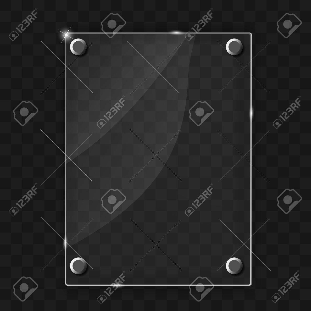 Glass frame on abstract metal background  Vector illustration Stock Vector - 19658168