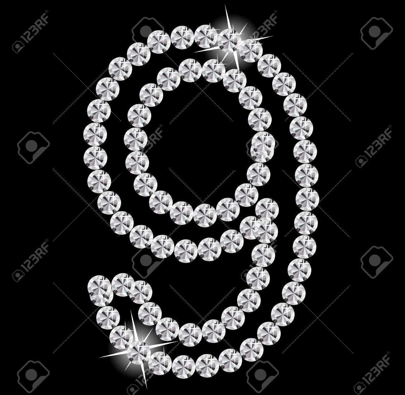 Diamond Alphabet illustration Stock Vector - 19929380