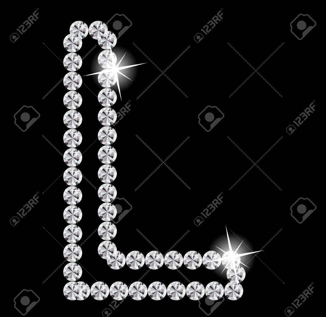 Diamond Alphabet vector illustration Stock Vector - 19929351