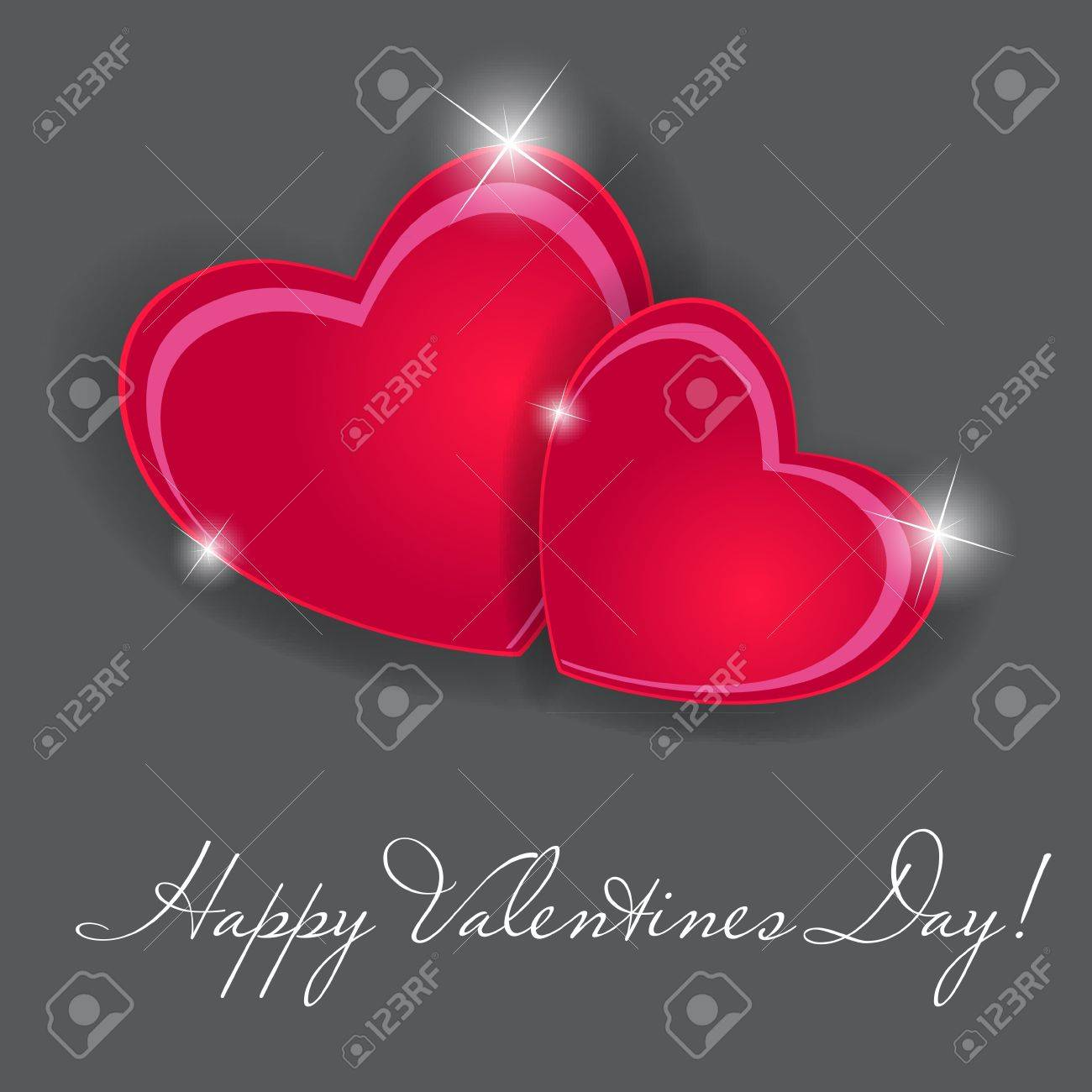 Happy Valentines Day card with heart Stock Vector - 20831313