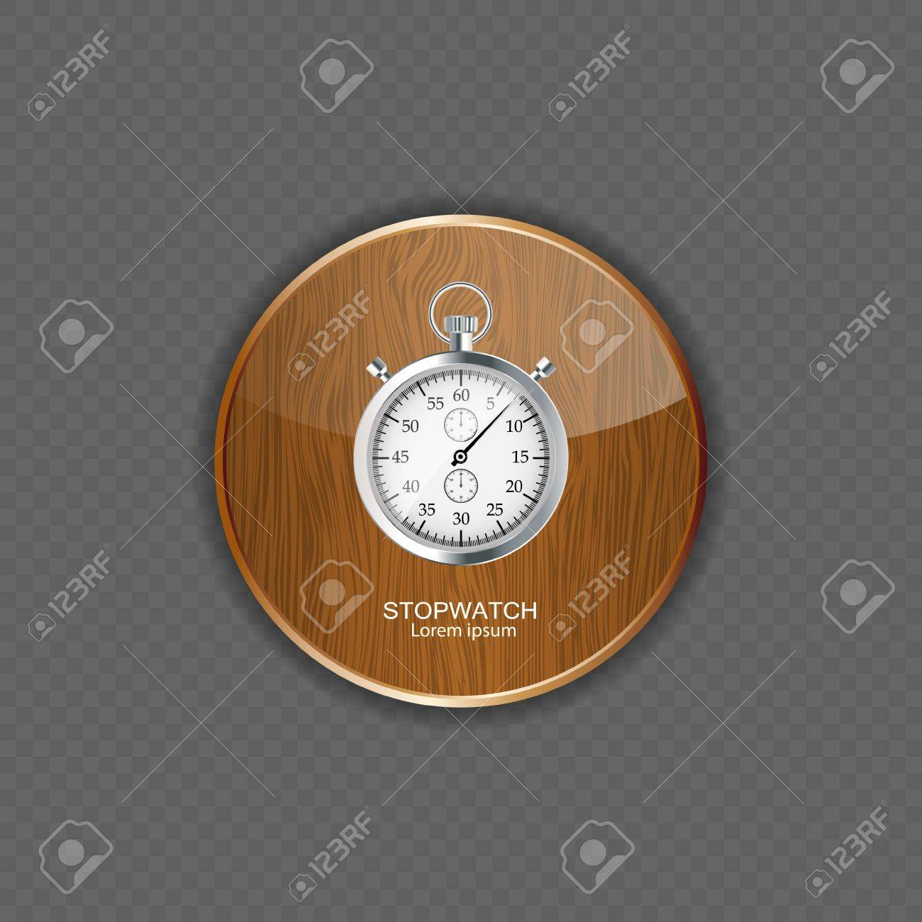 Stopwatch wood application icons vector illustration Stock Vector - 21878487