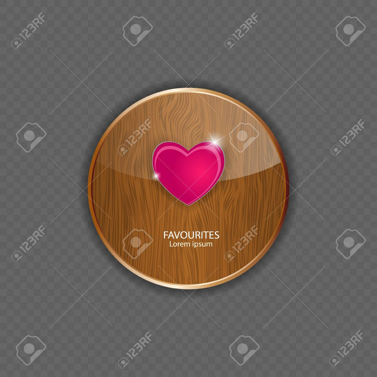 Heart wood application icons vector illustration Stock Vector - 21878523