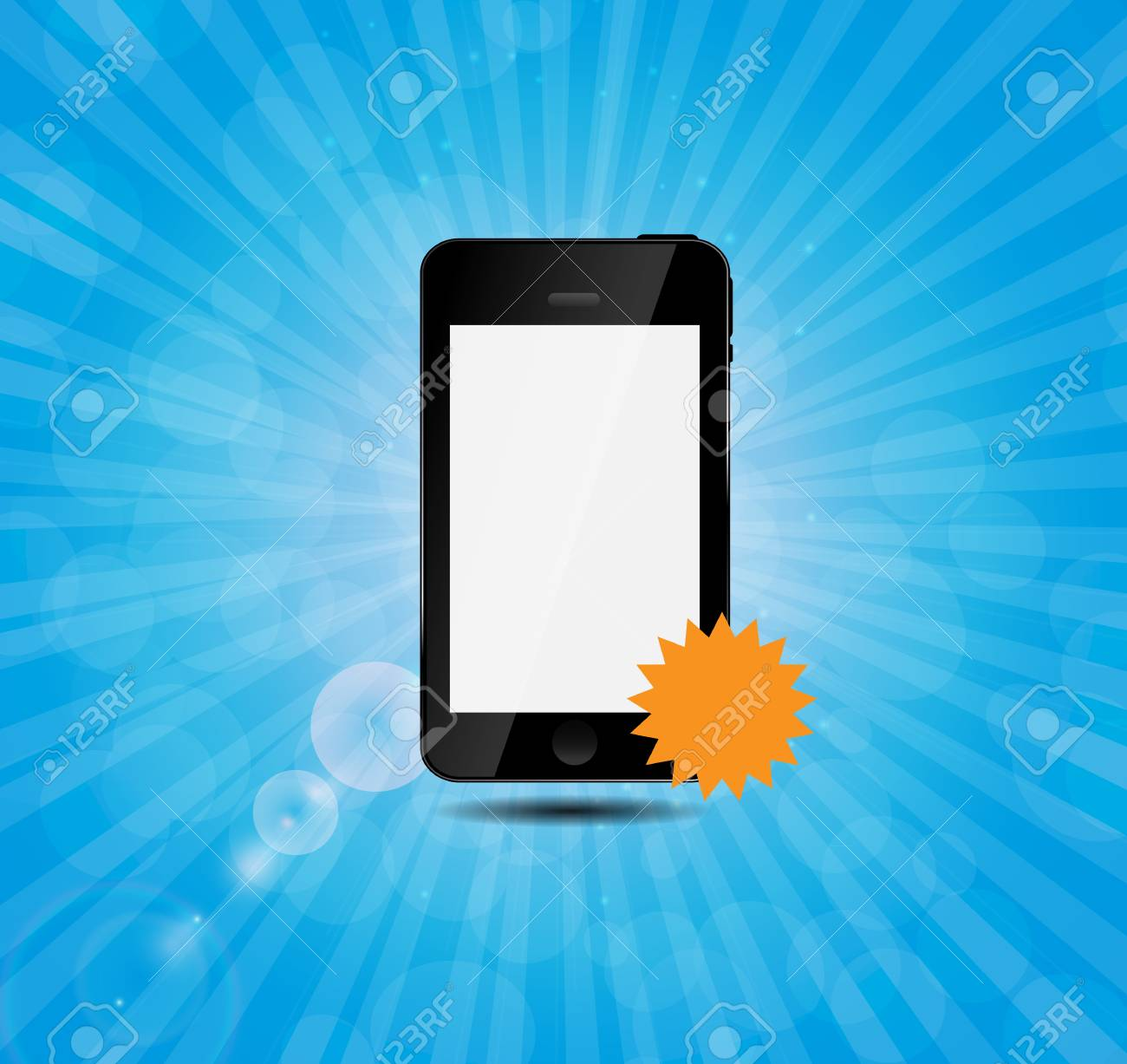 Mobile phone with price label vector illustration Stock Vector - 23392092