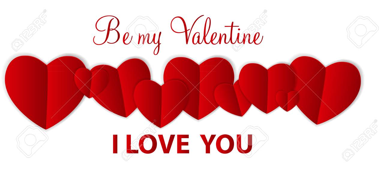 Happy Valentines Day Card with Heart. Vector Illustration Stock Vector - 24874287