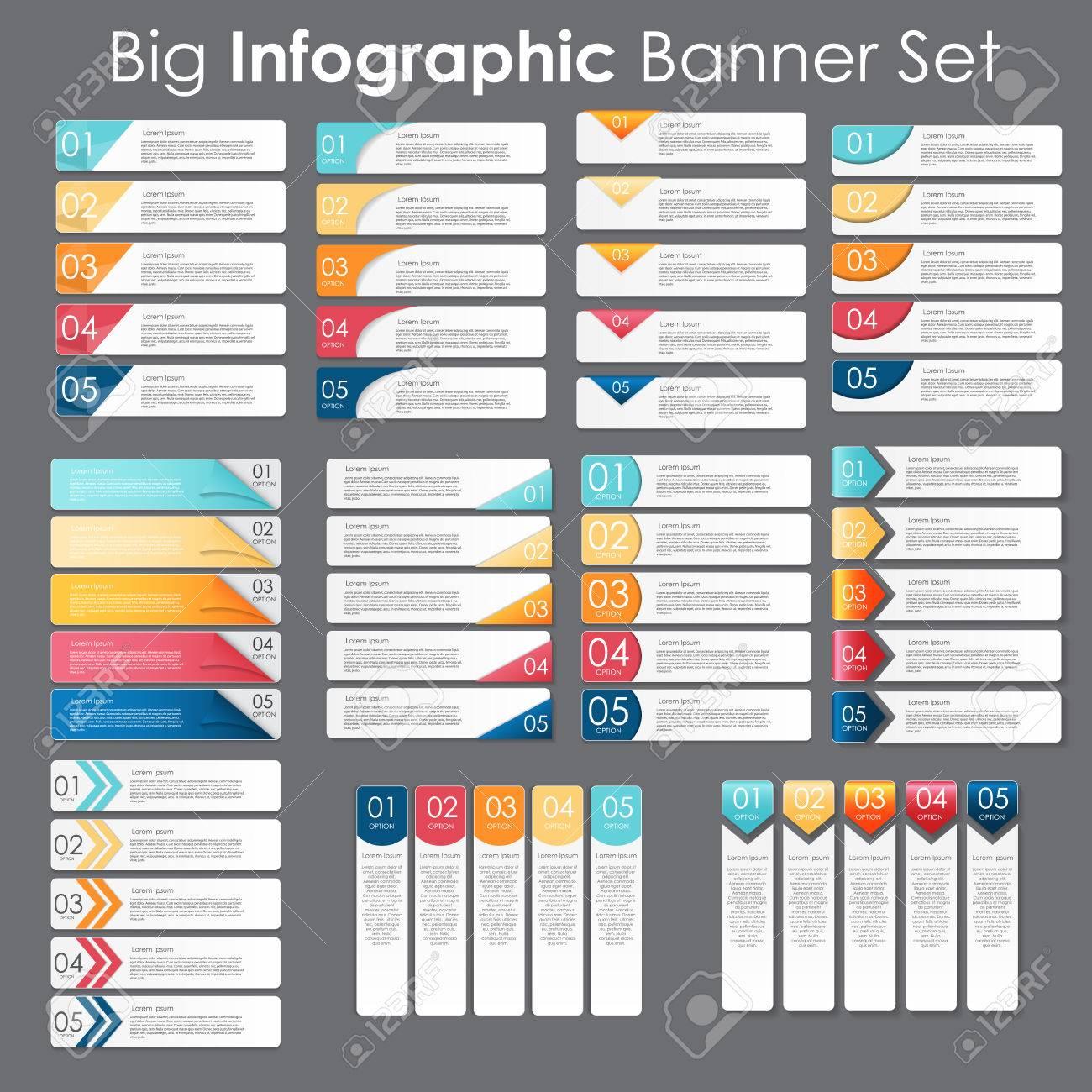 Big Set Von Infografik-Banner-Vorlagen Für Ihr Unternehmen Vector ...