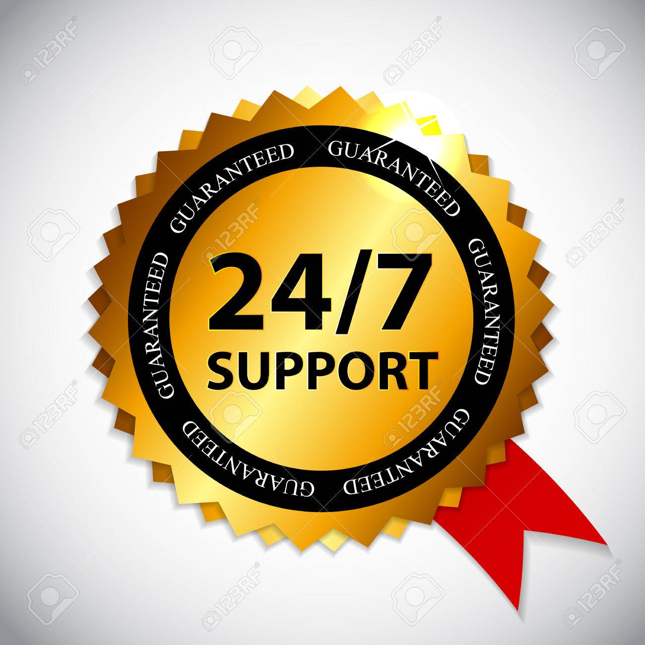 24-7 SUPPORT Sign, Label Template Royalty Free Cliparts, Vectors ...